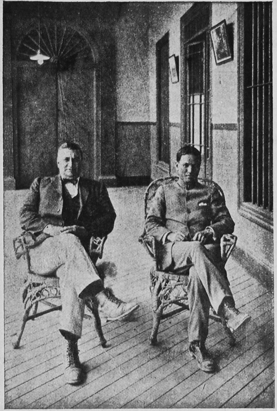 "30-Alex Forsyth, Engineer, and Guillermo Ch. Kongfook, Administrator, of ""La Estrella"" plantation owned by Aurelio Pow San Chia's firm Pow Lung & Co. of Lima"