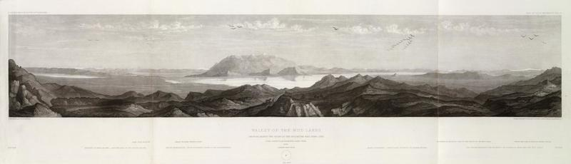 Valley of the Mud Lakes Showing Eighty Two Miles of the Projected Rail Road Line. June 14th at 9 A.M. from Mud Lake Peak