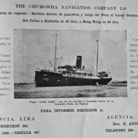 15-The Chungwha Navigation Co. Ltd. traveled to Arica, Iquique, Valparaiso (Chile), Tahiti (French Polynesia), Wellington, Auckland (New Zealand), Sydney (New Zealand), Thursday Island and Tarakan (East Indies), and Hong Kong (China)