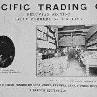8- Pacific Trading Co. (Lima), managed by Shoji Kobayashi, sells finished coats and cloth, including silk, wool, flannel, and crepe